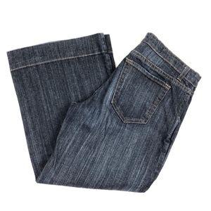 NYDJ Tummy Tuck Capri Jeans Wide Leg Size 8